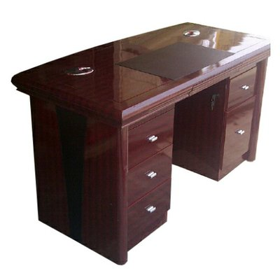 1.4 Metre Executive Office Table With Attached Chest of Drawers - Brown