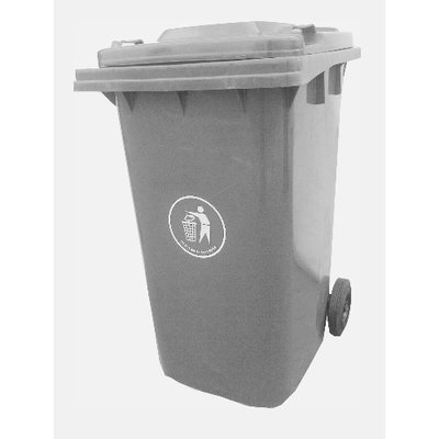 Grey Virgin Plastic Refuse Dustbin