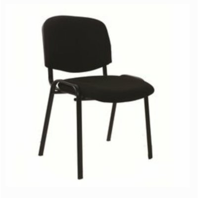 Emel 4-Legged Visitor Conference Fabric Office Chair - Black