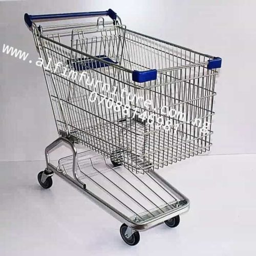 big supermarket shopping trolley cart