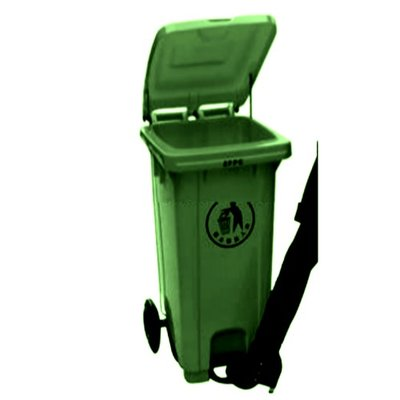 Foot Pedal Wheelie Refuse Waste Dust Bin - Leaf Green - 120 Litres