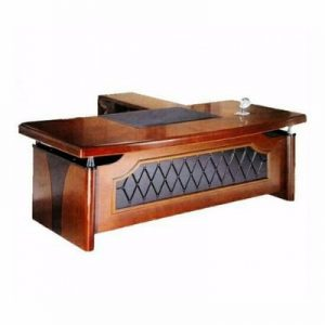 Executive L-shaped Office Table with Extension and Mobile Drawers - 1.8 Metre