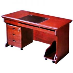 Leg-Space Optimised Director's Office Table with Pedestal and Side Table - 2m