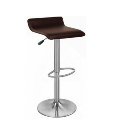 Multi Home Low Back height adjustable leather bar stool