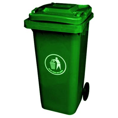 120 Litre Wheelie Plastic Refuse Waste Bin - Green
