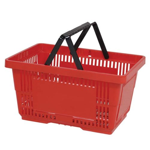 28L-Plastic-Hand-Basket-with-NH-red-large