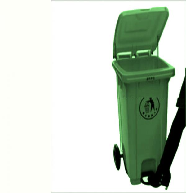 120 Litre Foot Pedal Mobile Waste Dust Bin