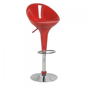 Medium Back Adjustable Plastic Swivel Bar stool – Red