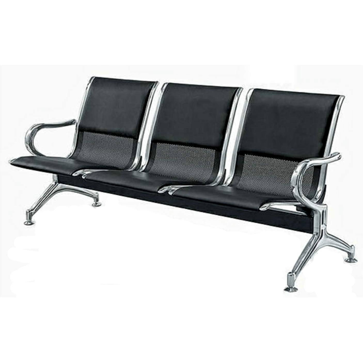 Leather padded airport reception office chair