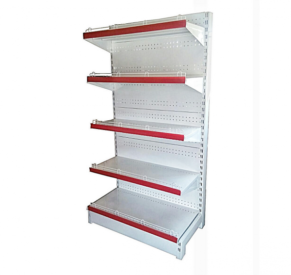 Melissa Supermarket Double Sided Display Shelf With Adjustable Shelves