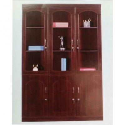 Executive 3 Door Bookshelf with 6 Keys on All Doors