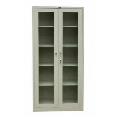 Glass Swinging Door Metal Cupboard File/Book Shelf