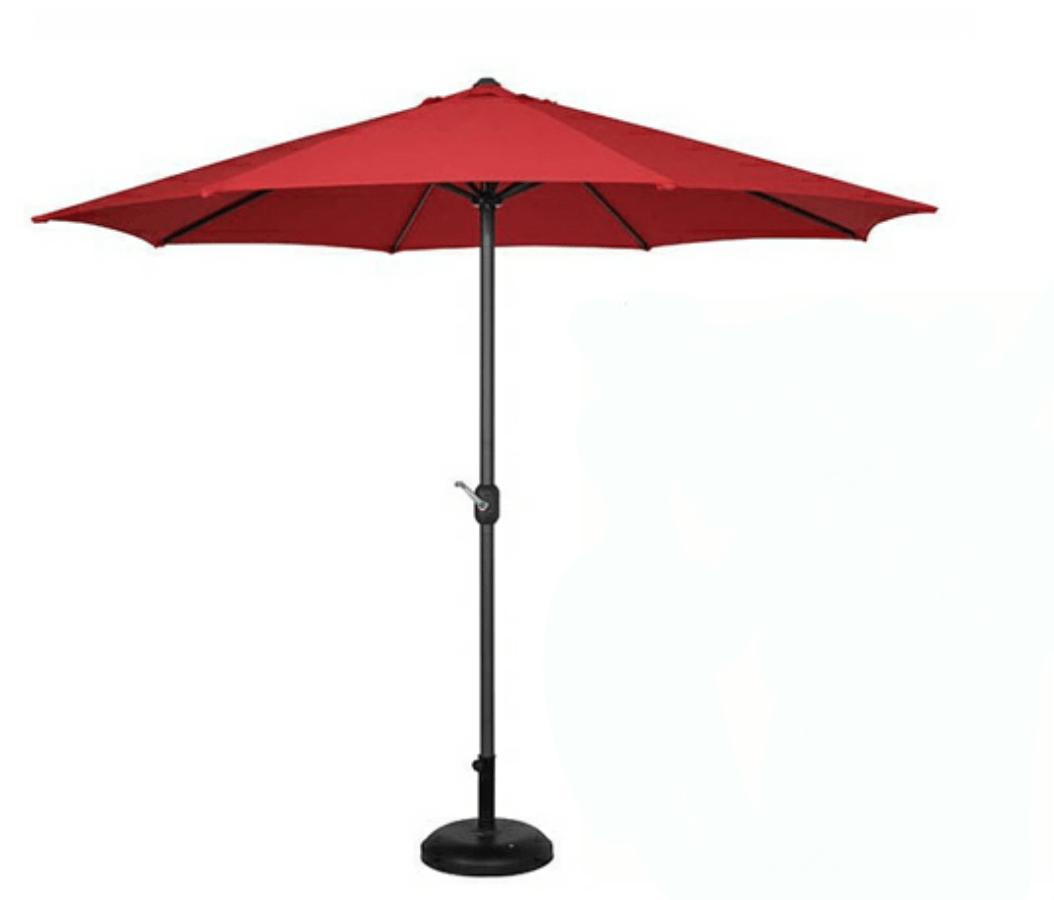 Outdoor Garden Parasol Umbrella Marble Base Tough