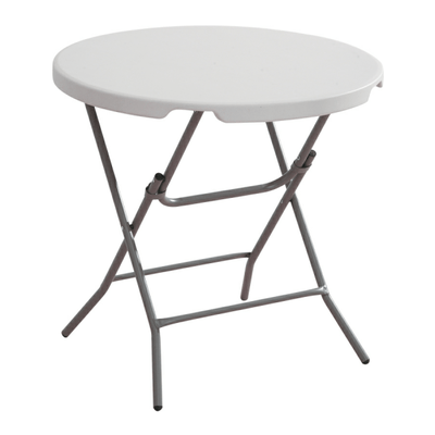 round plastic table with 4 foldable metal legs • alfim nigeria limited
