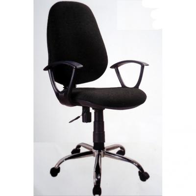 Secretary Chromed Metal Base Office Chair