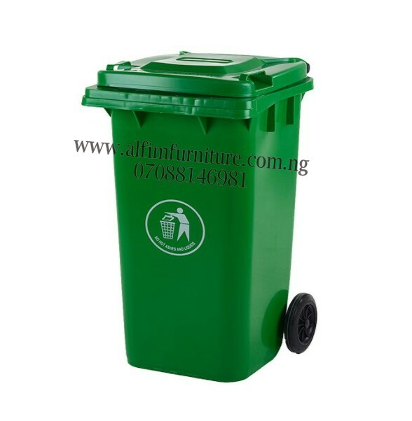 1cb7d8a2a6dc Spencer Plastic 240 Litre Waste Bin With 2 Tyres - Green
