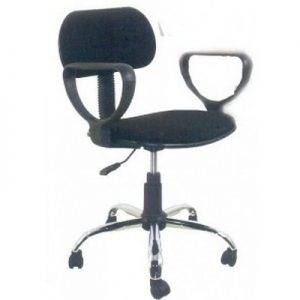 Emel Brushed(PB)  Ergonomic Mesh and Fabric Swivel Office Chair - Red