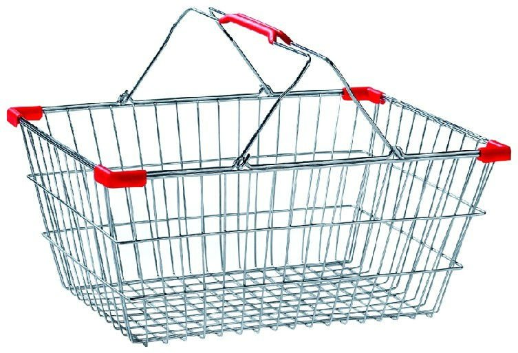 Wire Shopping Baskets With Wheels | Supermarket Grocery Shopping Cart Trolley Top Quality Buy Online