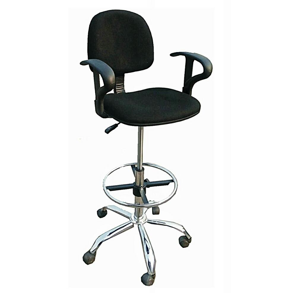 Cashiers Office High Swivel Chair With Armrest