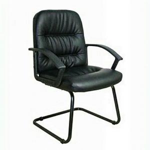 Peach Secretary Swivel Metal Base Office Chair - Black