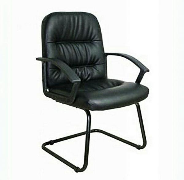 Medium Back Leather Visitor Conference Office Chair