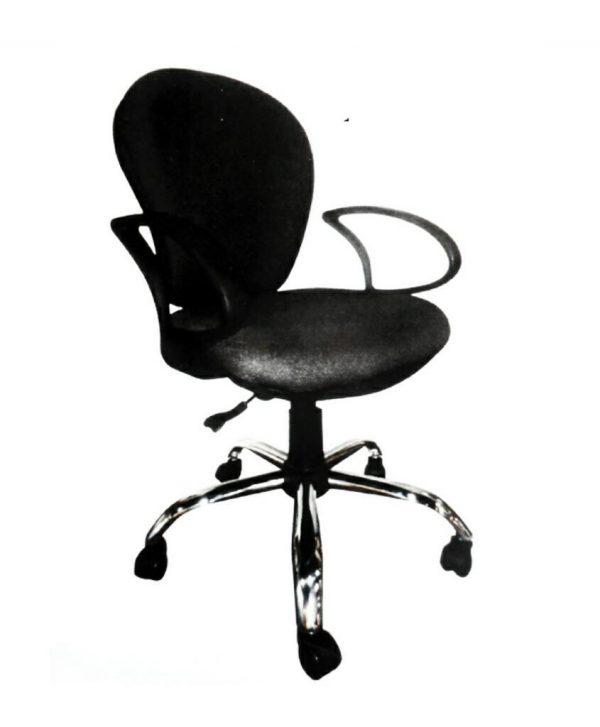 Senior Secretary Metal Base Swivel Office Chair