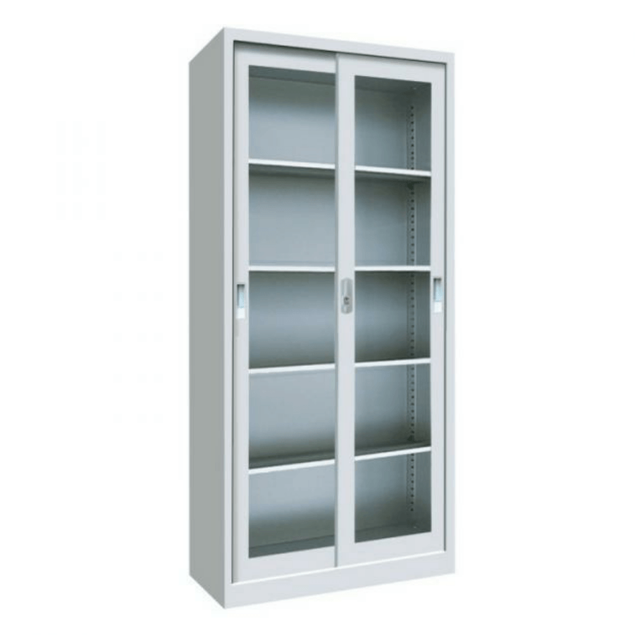 Sliding glass door metal cupboard cabinet • Alfim Nigeria Limited
