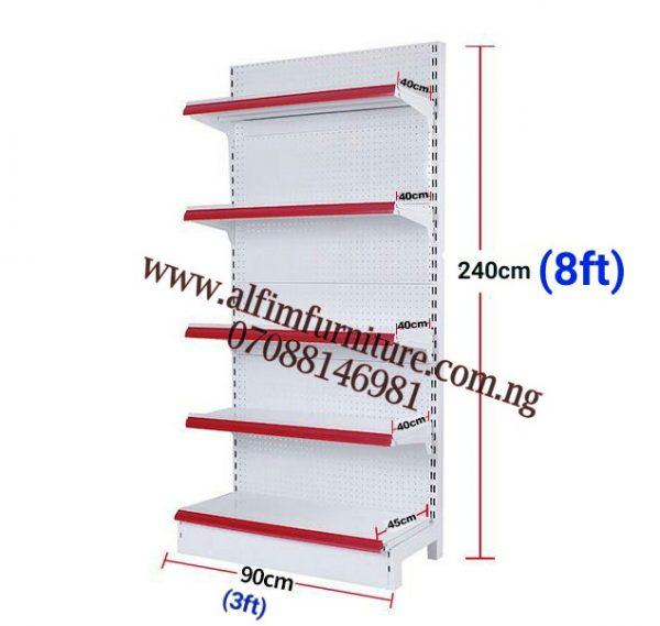 Single sided supermarket shelves wall metal shelves shop metal shelves