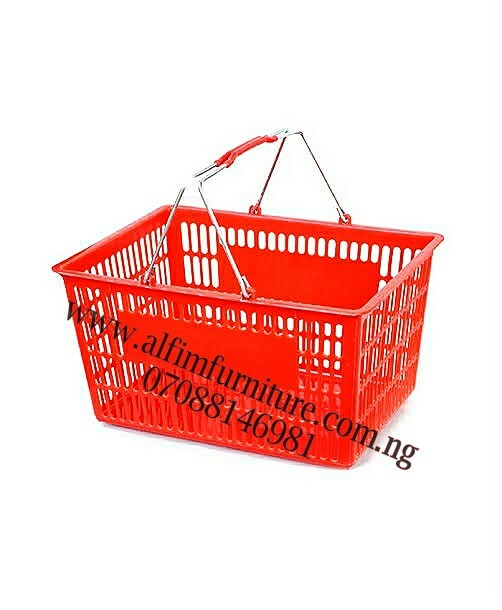 shopping plastic baskets supermarket shopping baskets