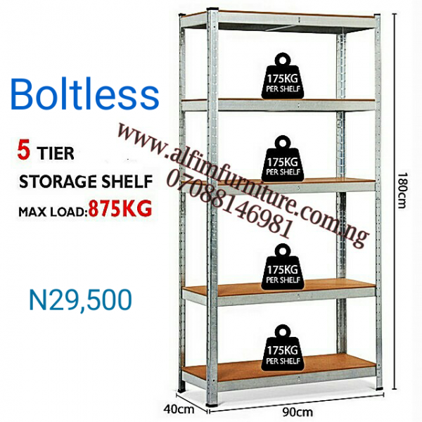 Bolted steel shelving rack storage shelf  with adjustable shelves
