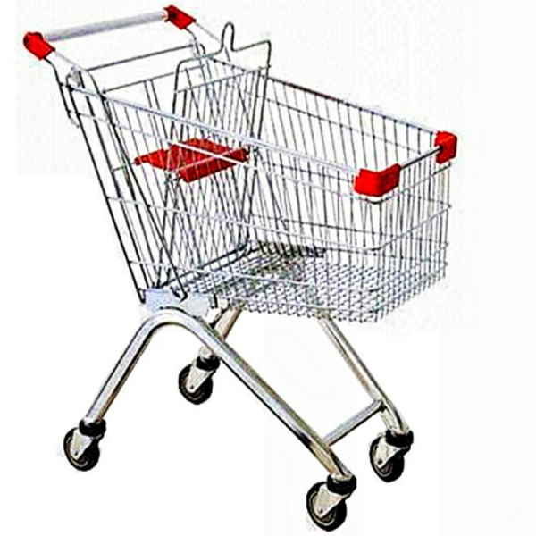 Hand-Held Supermarket Shopping Plastic  Baskets Steel Handle
