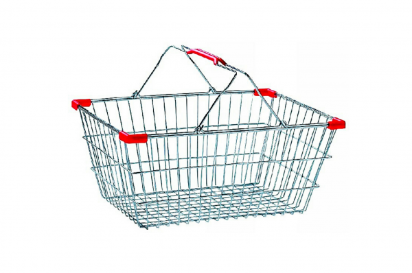 Hand-held Supermarket shopping steel wire baskets