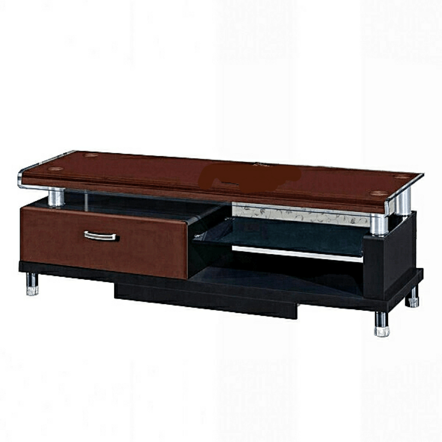 luxurious lcd plasma tv stand with 1 drawer and a shelf. Black Bedroom Furniture Sets. Home Design Ideas