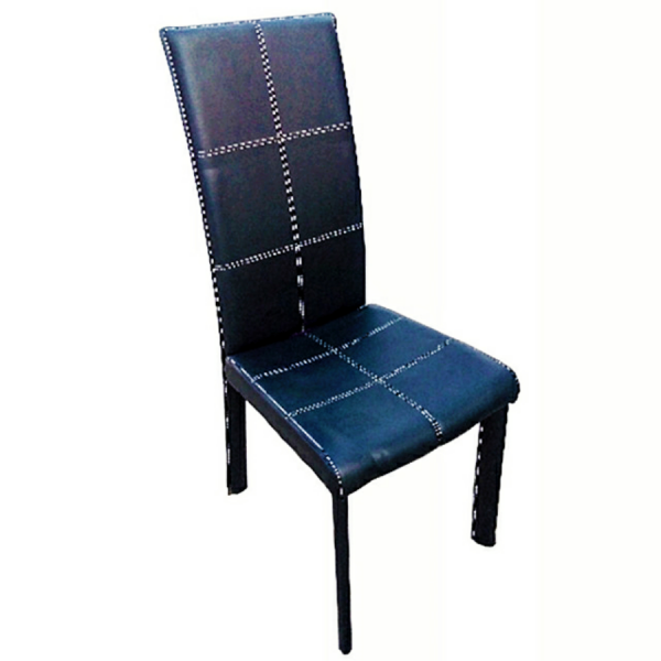 Fully upholstered leather dining chairs