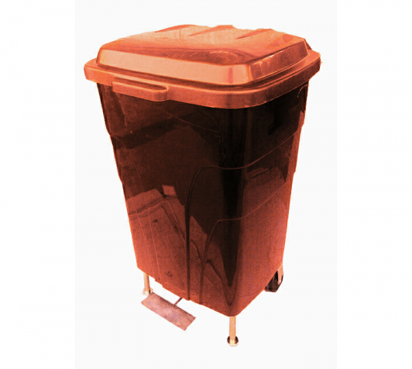 60 Litre Pedal  Wheelie Plastic  Waste Bin