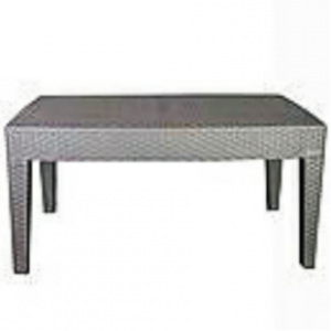 Fold in half rectangular plastic top banquet tables with foldable iron legs.