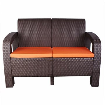 Ranoush 2-seater Rattan Garden Outdoor Chair with cushions