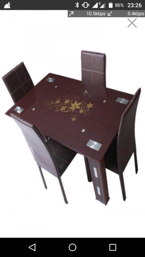 Exquisite  Dining table with 4  dining chairs