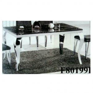 Meridian 4-seater Tempered Glass Dining Table With 4 Chairs