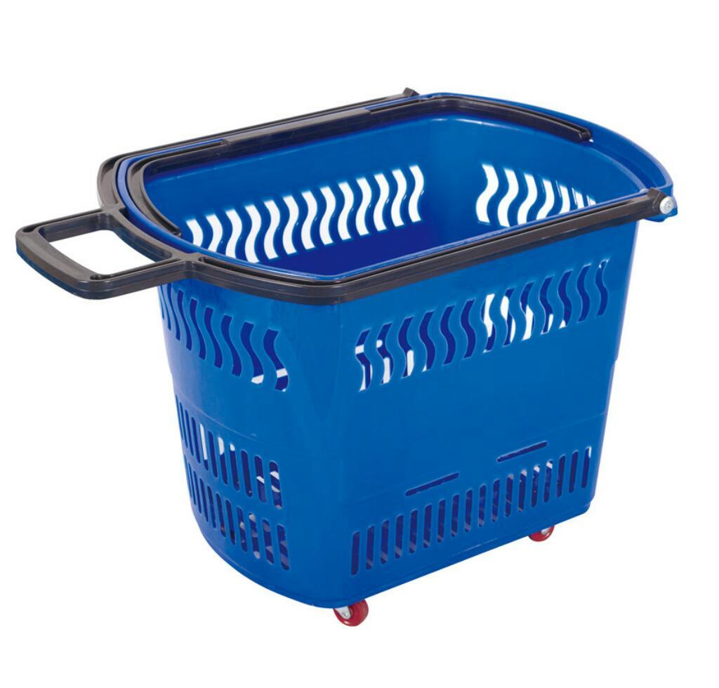 Shopping Plastic Baskets Supermarket Hand Held