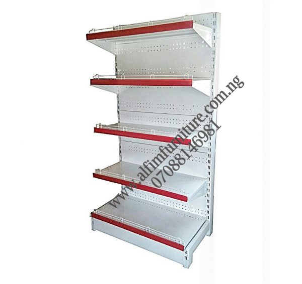 Single sided supermarket shelves wall metal shelves shop metal shelves