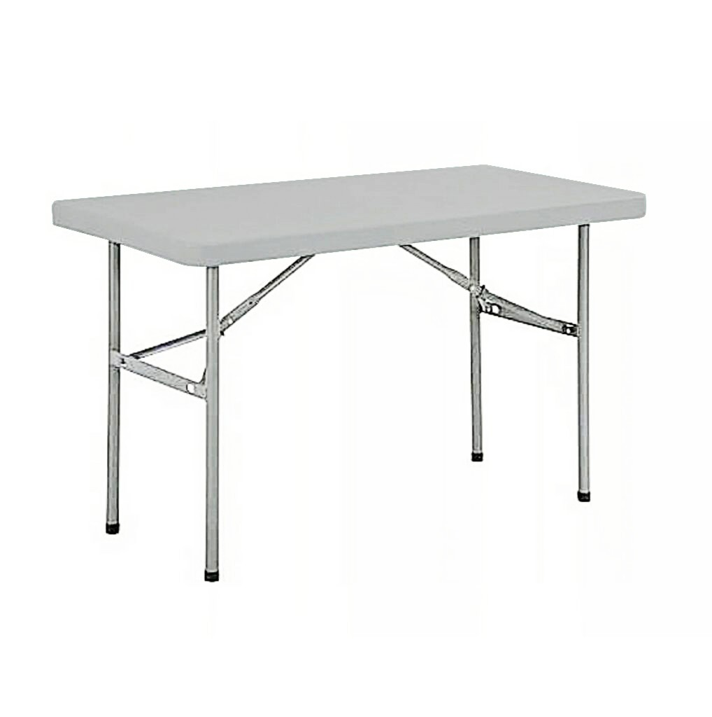 4 Seater Rectangular Restaurant Plastic Top Folding Table