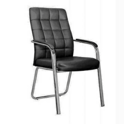 4-leg Leather conference visitor office chairs with armrest