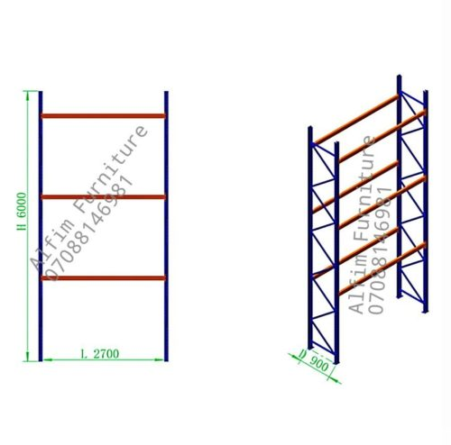 Alfim furniture warehouse pallet storage rack
