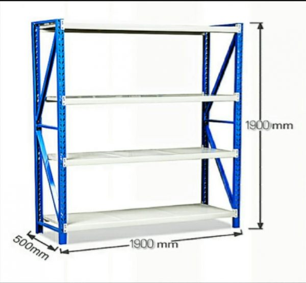 Spectrum Single Sided supermarket Display Wall Shelves Rack