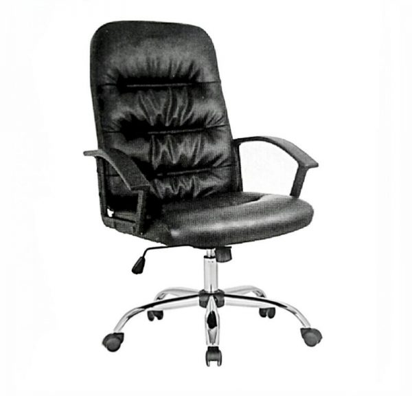 Leather swivel office chair