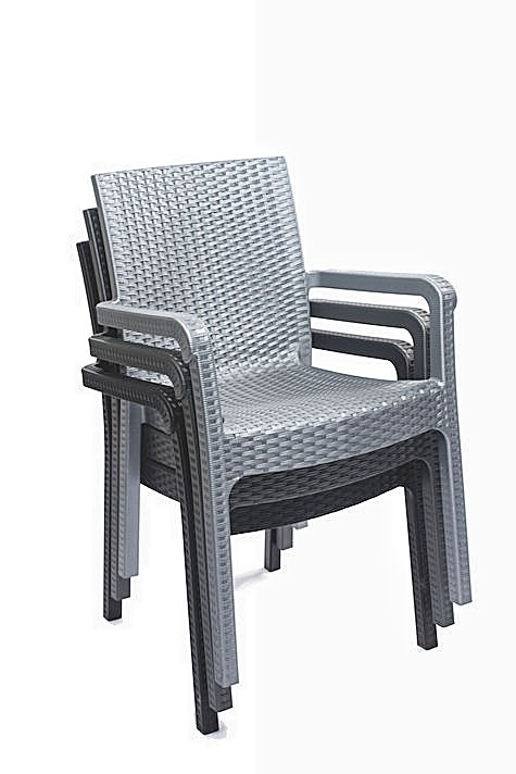 Malibu rattan chair design with armrest