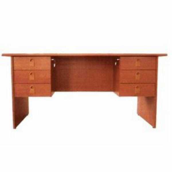 1.6 mtr (5ft)  Office Table With 3 Attached Drawers On Each Side