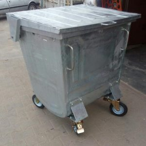 Galvanized Steel Waste Bin