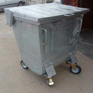 Galvanized Steel Waste Bin